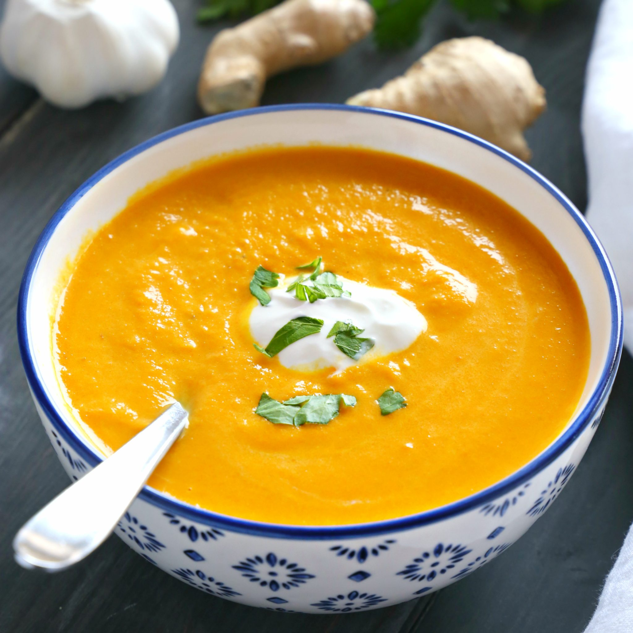 top carrot ginger dating Creamy roasted carrot ginger soup  several times it's just as easy to put the roast carrots and all the other ingredients in a crock pot on the stove top and .
