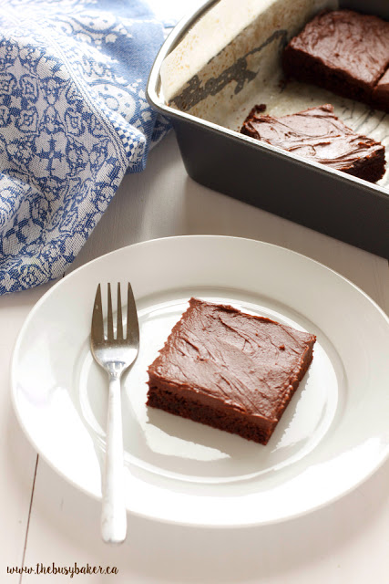 chewy brownies with frosting