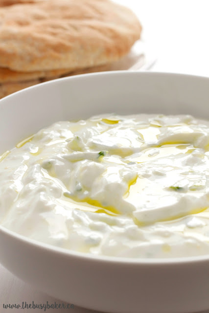 bowl of creamy Greek yogurt dip