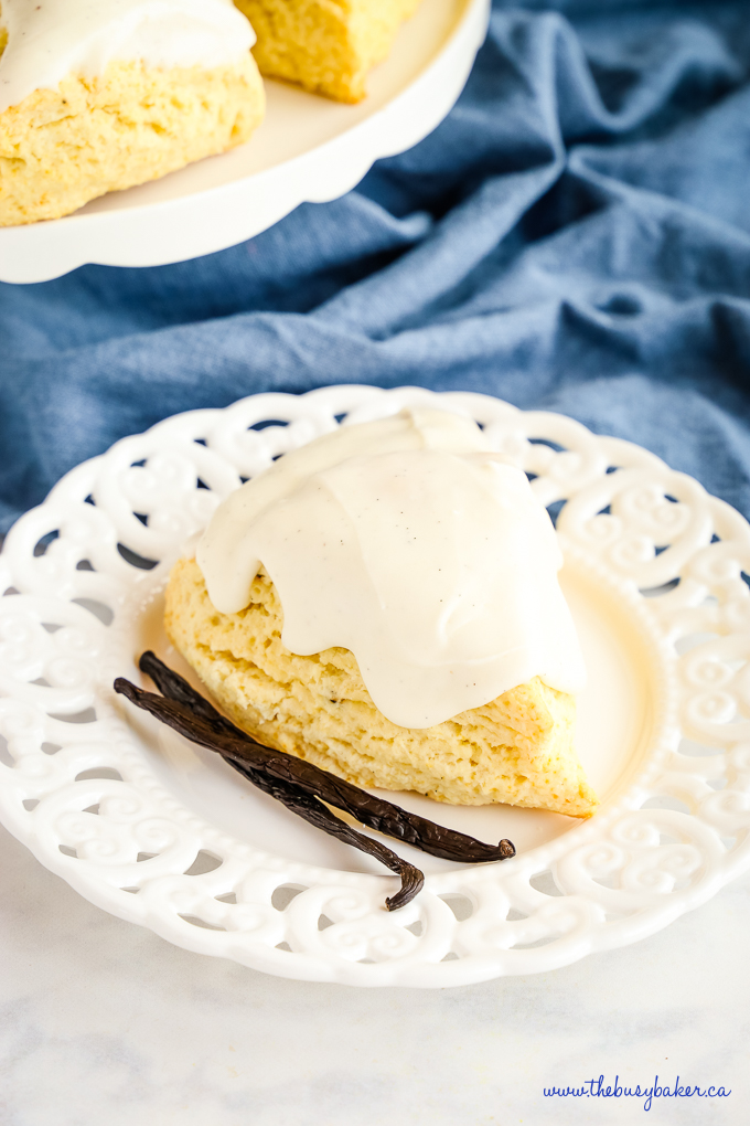 Best Ever Vanilla Bean Scones with real vanilla beans