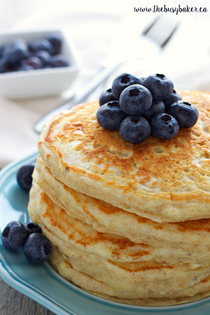 healthy pancake recipe made with whole wheat flour
