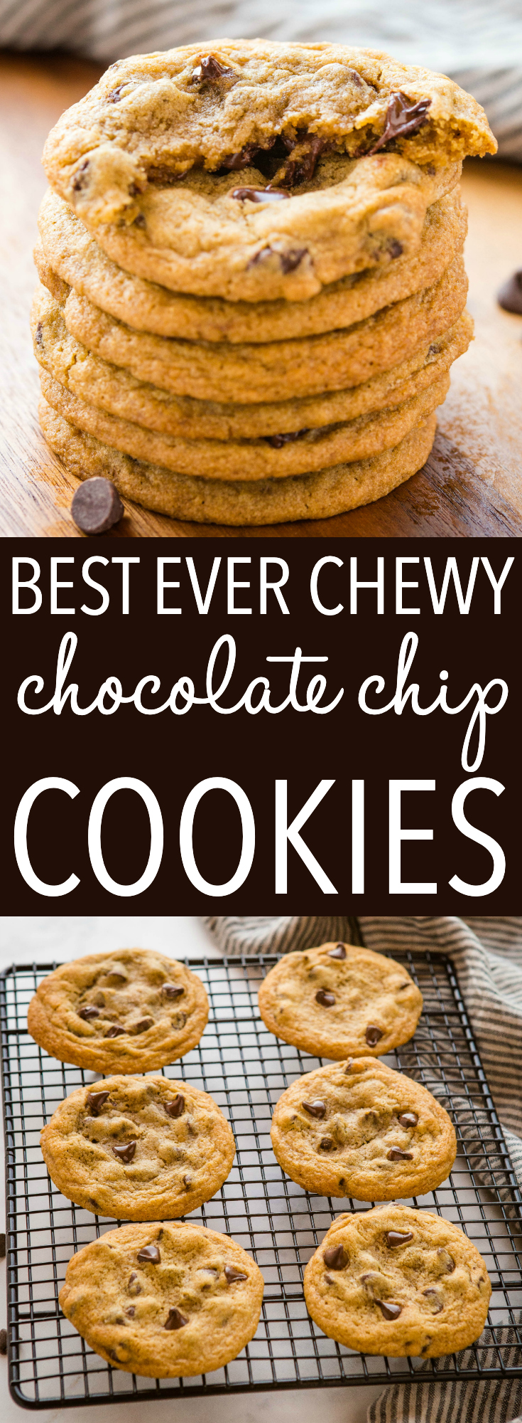 These Chewy Chocolate Chip Cookies are soft and chewy on the inside and crispy on the outside - the PERFECT chocolate chip cookies with pro tips! Recipe from thebusybaker.ca #perfectchocolatechipcookies #chewychocolatechipcookies #homemadecookies #baking #chocolatechips #afterschool #homemade #familyrecipe via @busybakerblog