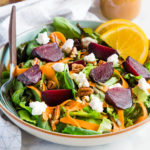 roasted beet salad with orange vinaigrette dressing