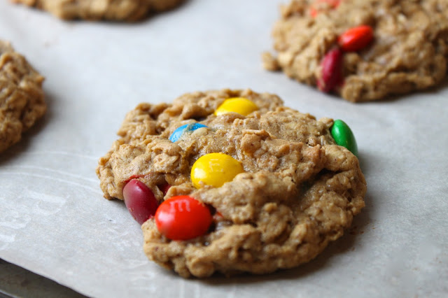 close up image of Monster Cookies
