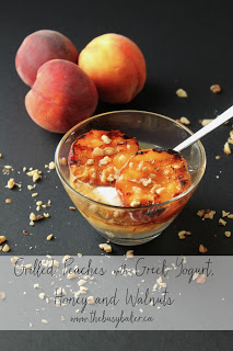 grilled peaches with Greek yogurt honey