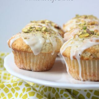 titled image (and shown): lemon pistachio muffins