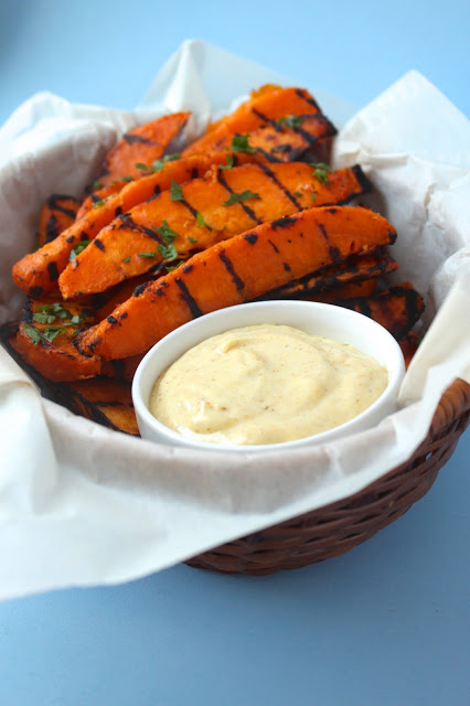 healthy grilled sweet potato fries