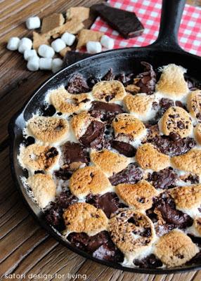 http://satoridesignforliving.com/2014/06/camping-dessert-skillet-smore-brownies/