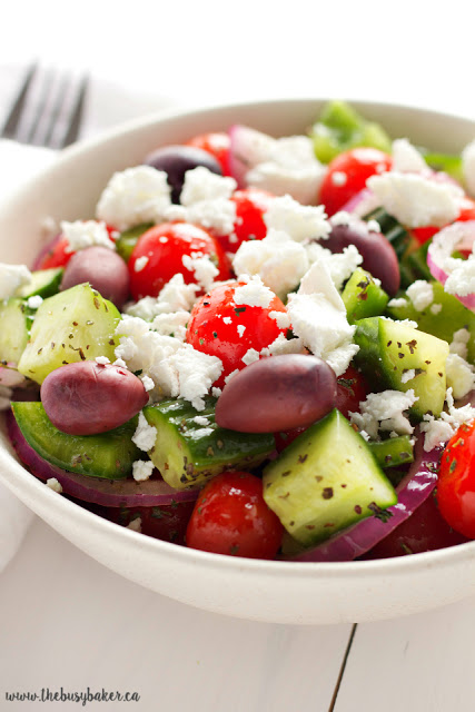 simple Greek side salad