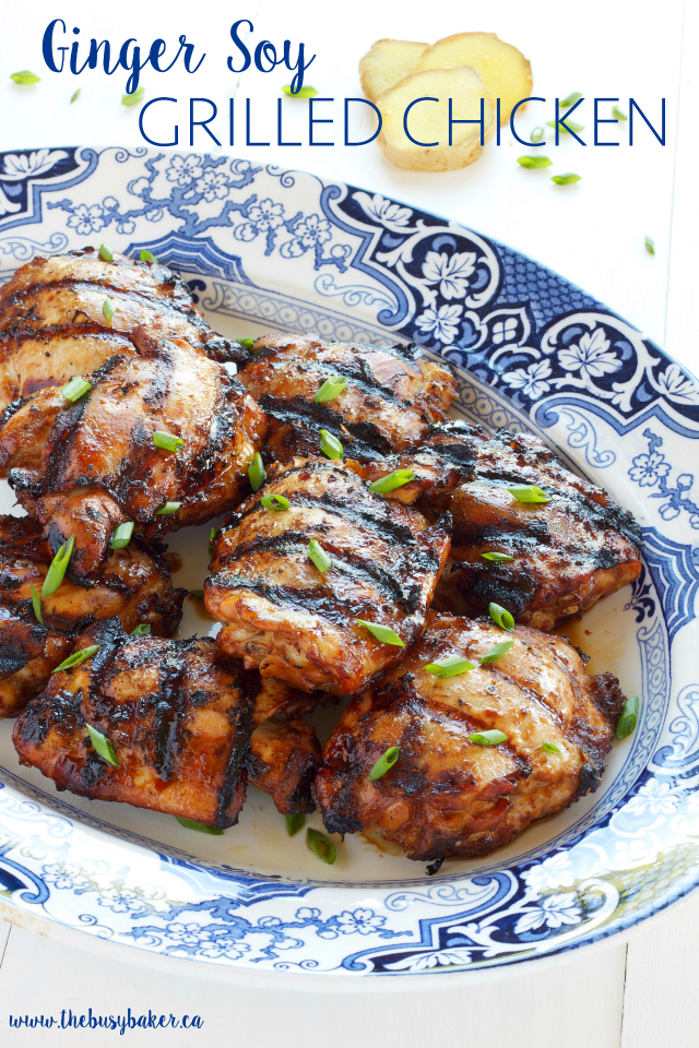 titled image (and shown): Ginger Soy Grilled Chicken