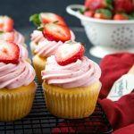Strawberry Cupcakes with Fresh Strawberry Buttercream