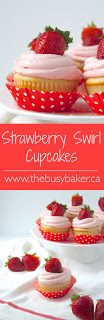 Strawberry Swirl Cupcakes with Fresh Strawberry Buttercream #SummerDesserts