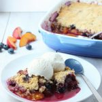 Blueberry Nectarine Cobbler