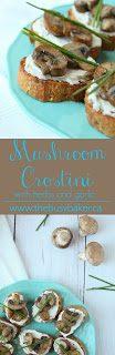 Mushroom Crostini with Herbs and Garlic