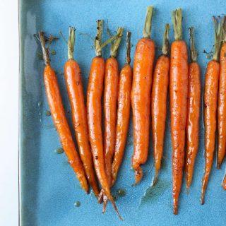 Roasted Carrots with Honey Balsamic Glaze