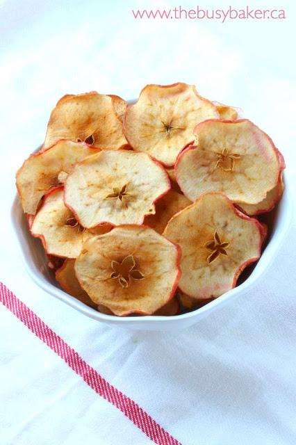 bowl of homemade apple chips
