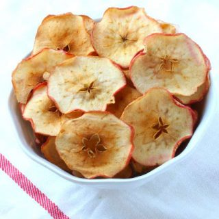 bowl of homemade apple chips