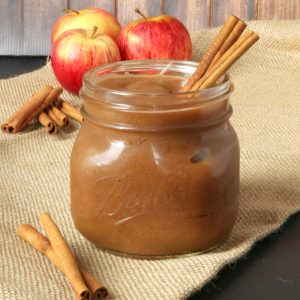 Healthy 2 Ingredient Crock Pot Apple Butter