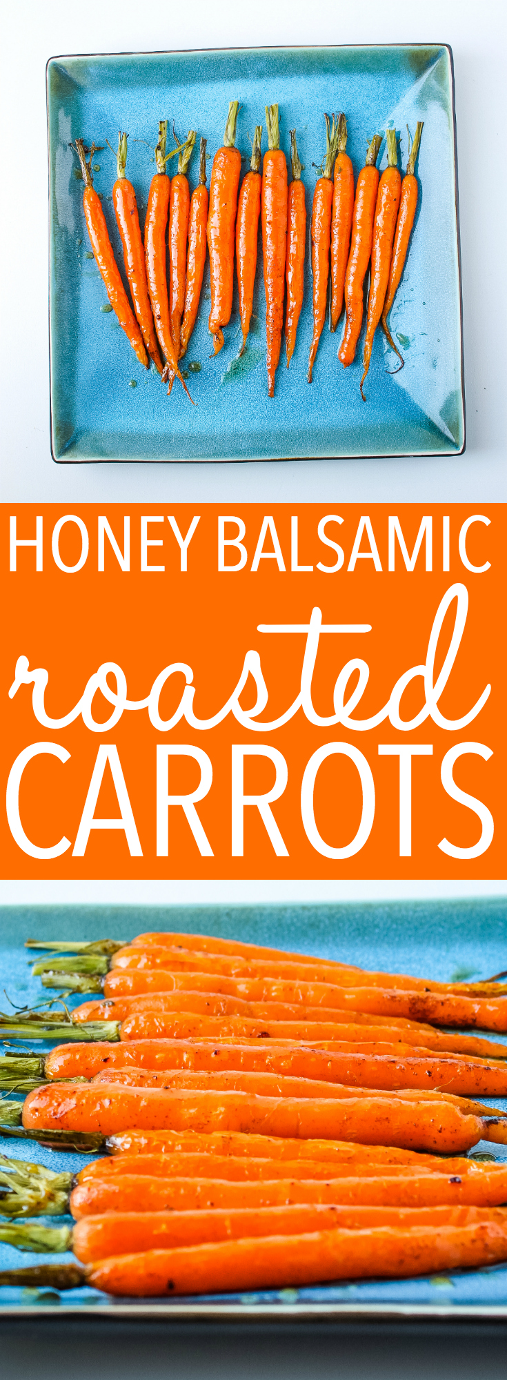 Balsamic Honey Glazed Carrots are the perfect fall side dish! Our family gobbles these honey roasted carrots up and they're so easy to make! Recipe from thebusybaker.ca! #honey #glazed #carrots #sidedish #holidays #christmas #thanksgiving #healthy #weightloss #weightwatchers #vegetarian via @busybakerblog