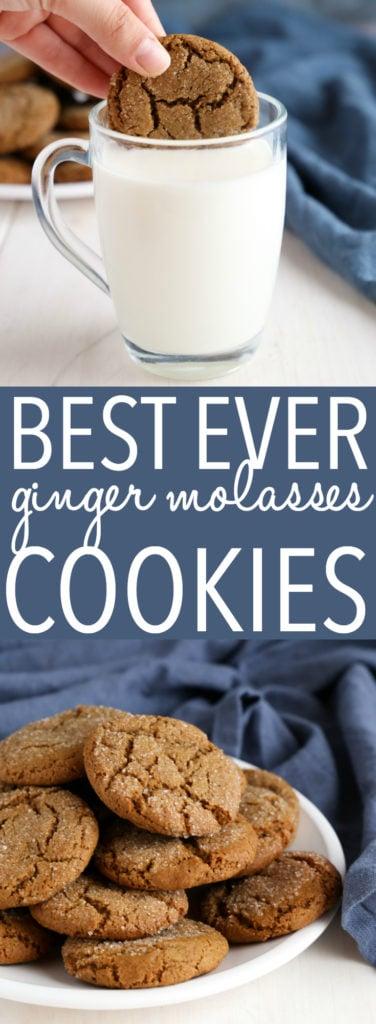 Best Ever Ginger Molasses Cookies Pinterest