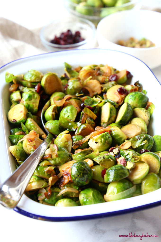 Brussels Sprouts with Caramelized Onions, Cranberries and ...