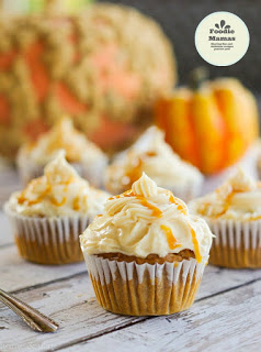 Home and Plate - Harvest Pumpkin Cupcakes with Salted Caramel Frosting
