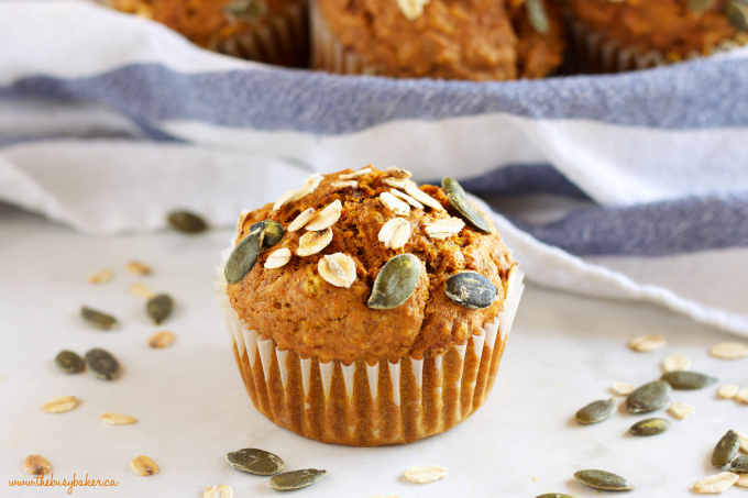 Healthy Pumpkin Oat Muffins The Busy Baker