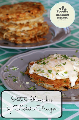 Fuchsia Freezer - Potato Pancakes with Eggs and Mornay Sauce