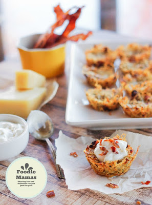 Home and Plate - Shredded Tater Cupcakes with Gruyere and Bacon