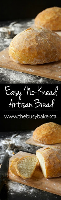 Artisan bread recipes don't get easier than this No Knead Artisan Bread recipe! This artisan bread is so easy to make, it's practically foolproof. Perfect for sandwiches, toasting, or enjoying with soup, chili, or stew. via @busybakerblog