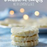 Earl Grey Cookies with Lemon Glaze (Shortbread Recipe)