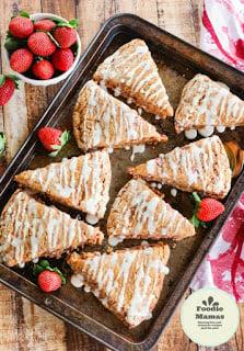 Whole Wheat Strawberry Ricotta Scones