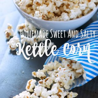 titled photo (and shown): Homemade Sweet and Salty Kettle Corn