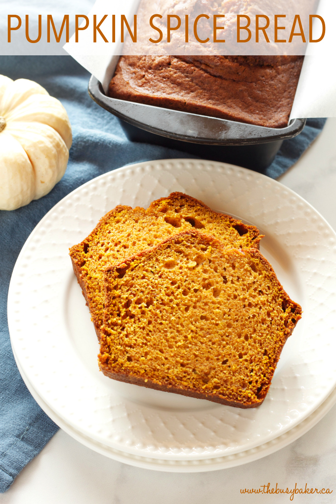 Best Ever Pumpkin Spice Bread - The Busy Baker