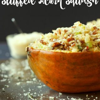 Italian Sausage and Brown Rice Stuffed Acorn Squash
