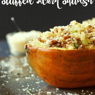 Italian Sausage and Brown Rice Stuffed Acorn Squash