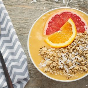 citrus mango banana smoothie bowl