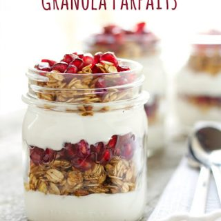 Pomegranate Granola Parfaits