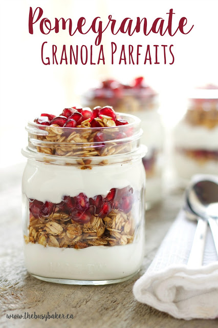 Pomegranate Granola Parfaits | Easy Sugar Free Recipes For Your New Year Diet