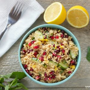 Pomegranate Lemon Couscous Salad with Mint