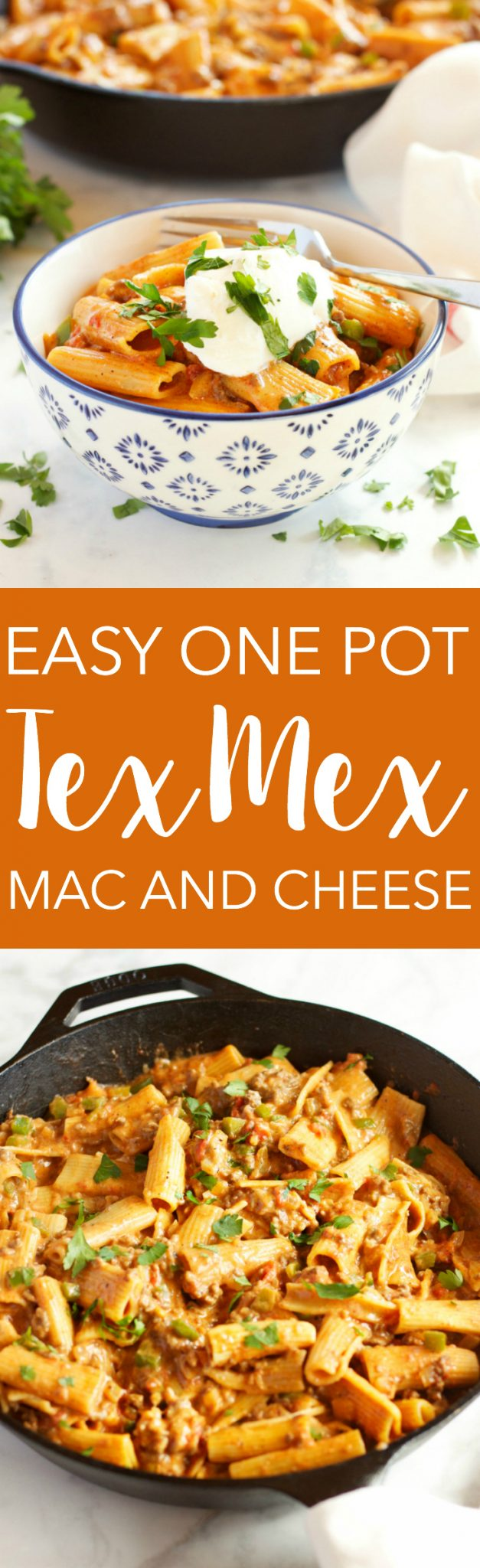 tex-mex-mac-and-cheese-pinterest - The Busy Baker