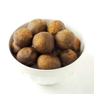 chocolate spice dried fig truffles