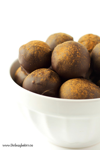 bowl of sweet truffles made with dried figs and chocolate