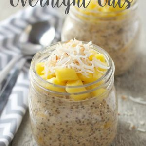 coconut mango overnight oats