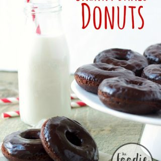 Skinny Double Chocolate Baked Donuts #FoodieMamas