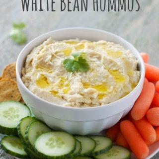 Garlic Parmesan White Bean Hummus