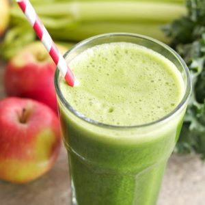healthy green juice coconut water smoothie