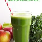 Green Juice with Mint and Coconut Water (and Celebrating My First Blogiversary!)