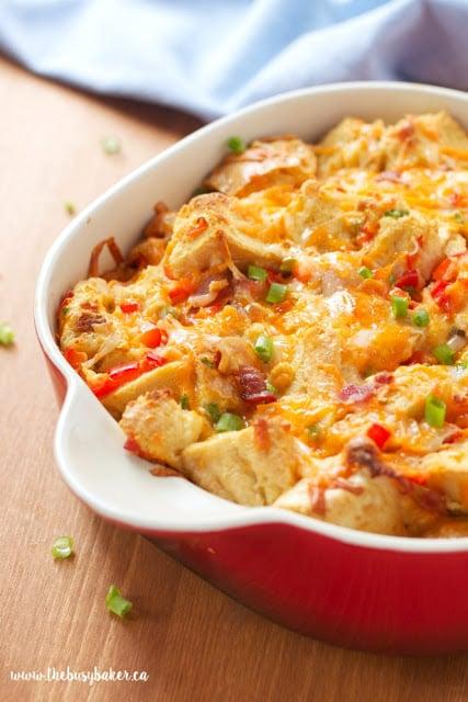 low fat, make-ahead breakfast casserole