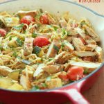 One-Pot Ricotta Pasta Primavera with Chicken